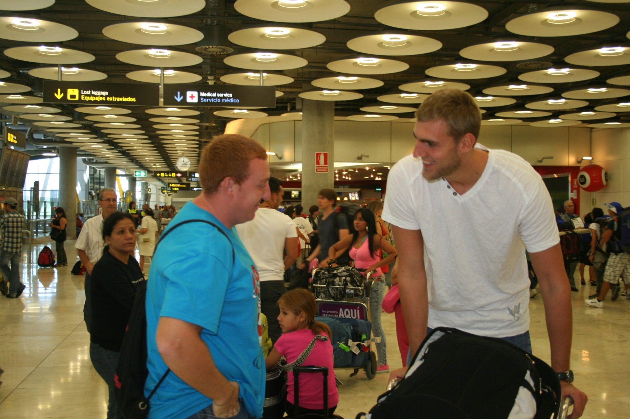 Los primeros jugadores van llegando a Madrid