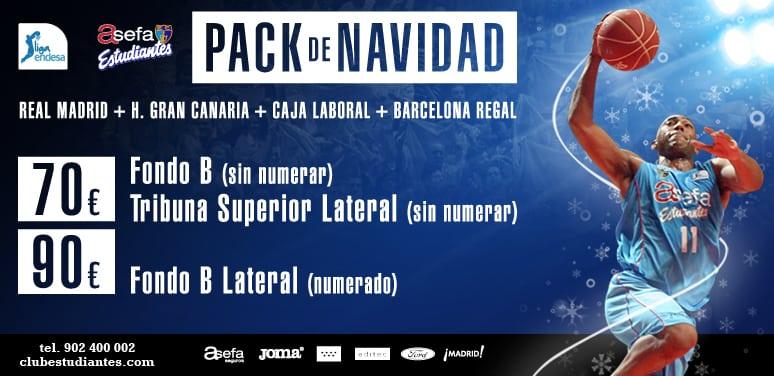 Pack de Navidad: Real Madrid, Barça, Caja Laboral y Granca desde 70 euros