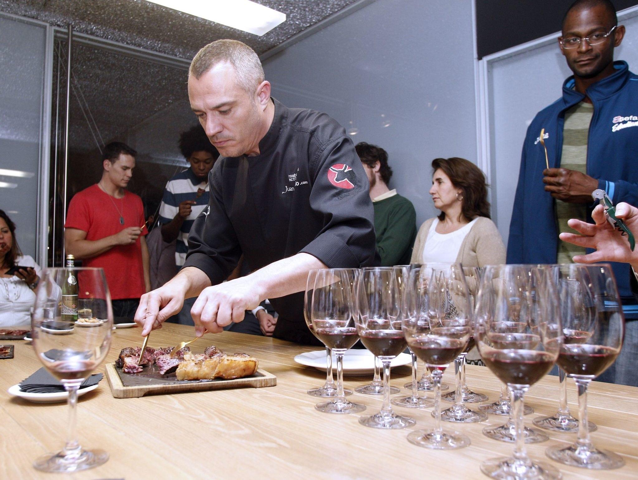 Taller de Cocina del Club de Negocios en el restaurante Vaca Nostra