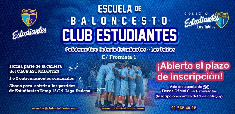 La Escuela de Baloncesto del Club Estudiantes, también en Las Tablas