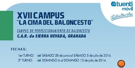 "XVIII Campus ""La Cima del baloncesto"" CAR Sierra Nevada"