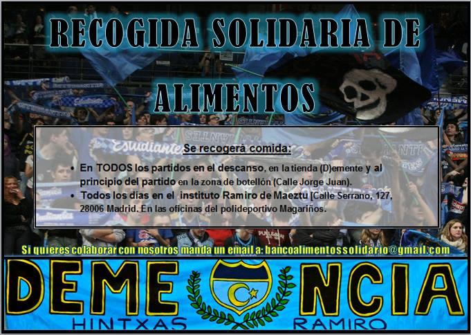 Recogida de alimentos solidaria de la Demencia, en los partidos y en el Magariños
