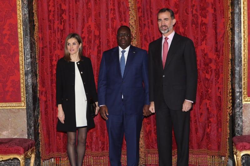 Wally Niang, en la recepción oficial de la Casa Real Española al presidente de Senegal
