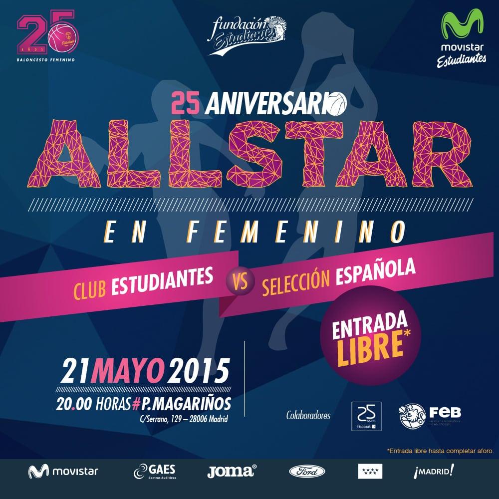 All Star en femenino #25EstuFem, el 21 de mayo en Magariños
