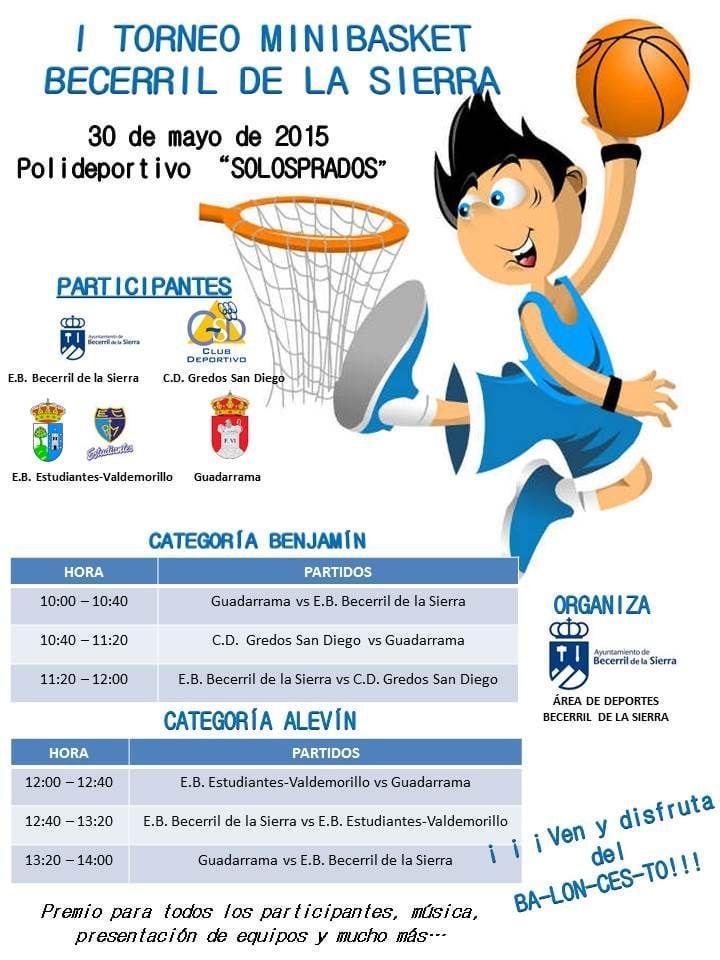 La Escuela de Baloncesto Estudiantes- Valdemorillo jugará el torneo de Becerril