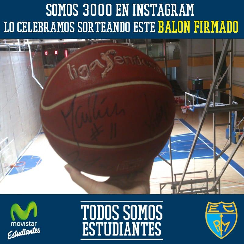 ¡Celebramos ser más de 3000 en Instagram sorteando este balón firmado!