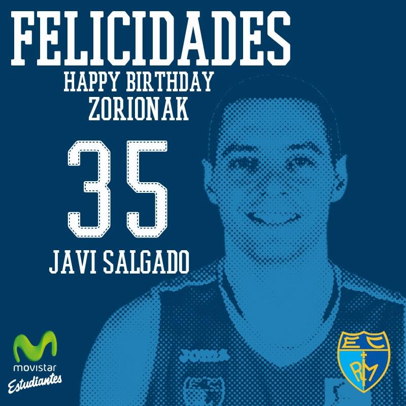 Javi Salgado cumple 35 años ¡felicitale por Twitter!