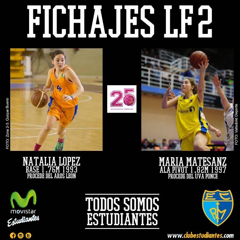Dos refuerzos castellano leoneses para LF2: Natalia López y María Matesanz