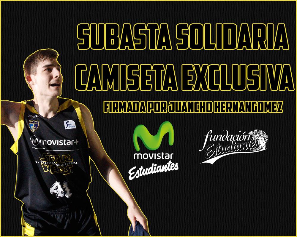 Subasta solidaria: consigue la camiseta exclusiva de Juancho Hernangómez en el derbi y colabora con la Fundación.