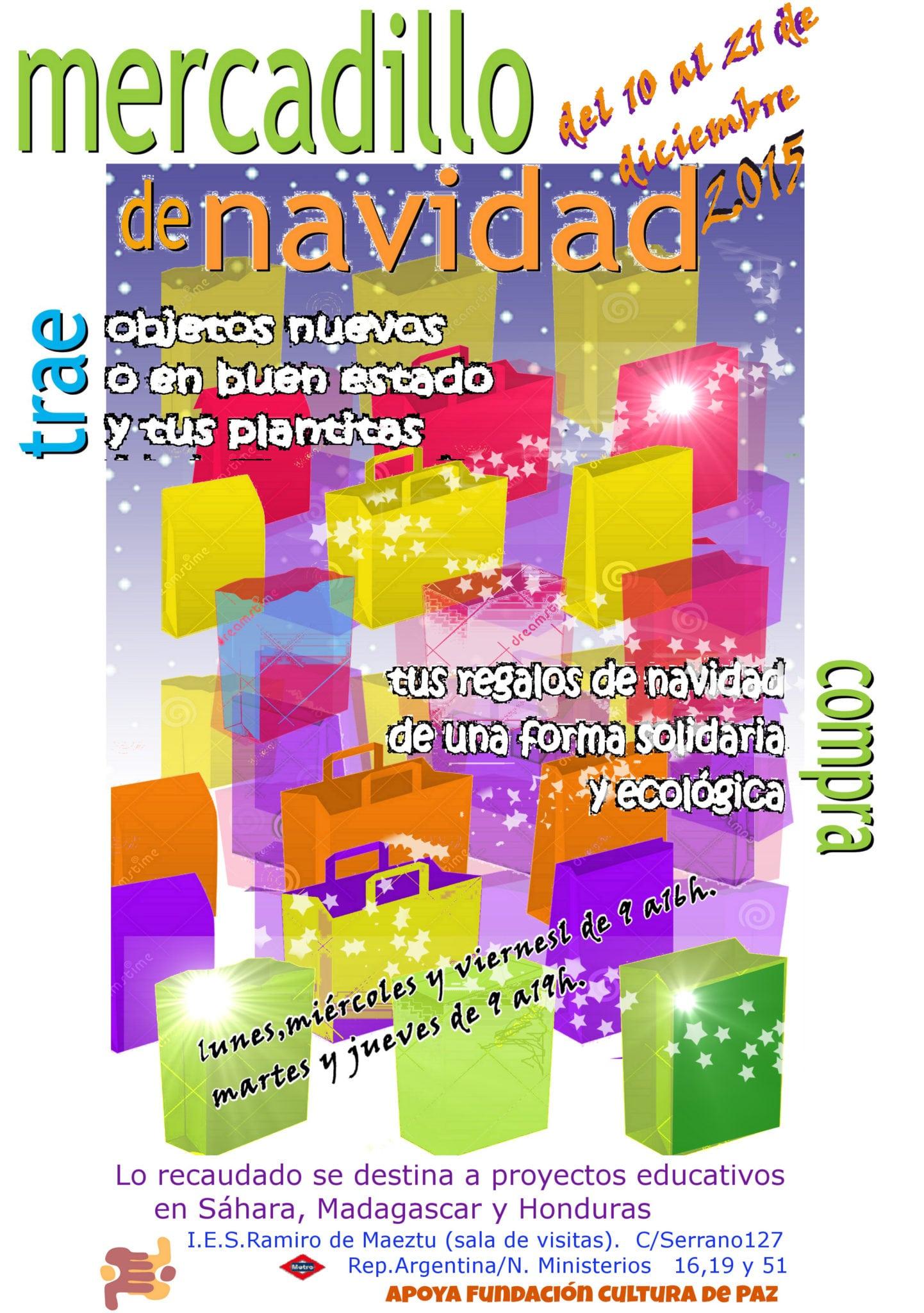 Mercadillo Solidario en el Ramiro del 10 al 21 de diciembre