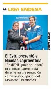 El Kiosko: la presentación de Nicolás Laprovittola, en los medios