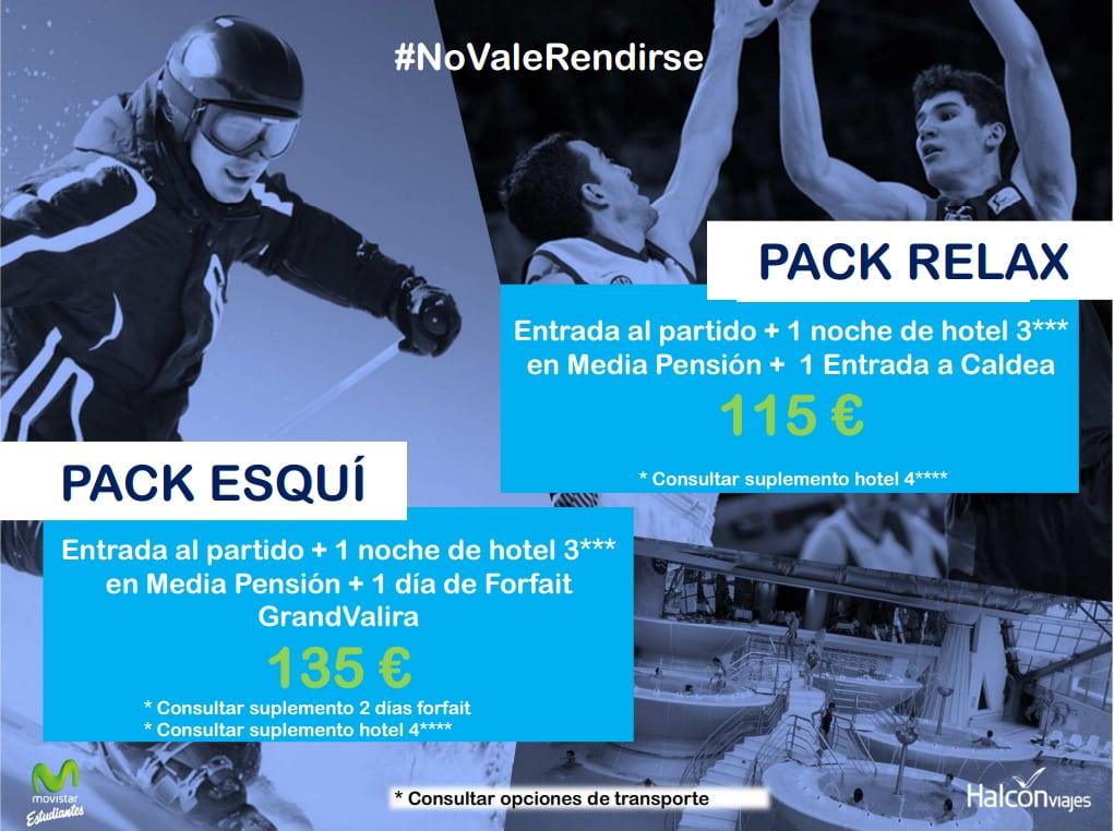 ¿Viajas a Andorra? Halcón Viajes te ofrece dos interesantes packs: BASKET + RELAX y BASKET + ESQUÍ