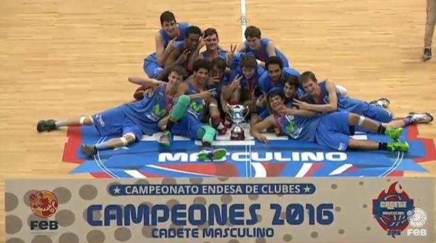 Movistar Estudiantes CAMPEÓN DE ESPAÑA CADETE tras ganar una vibrante final (55-53)