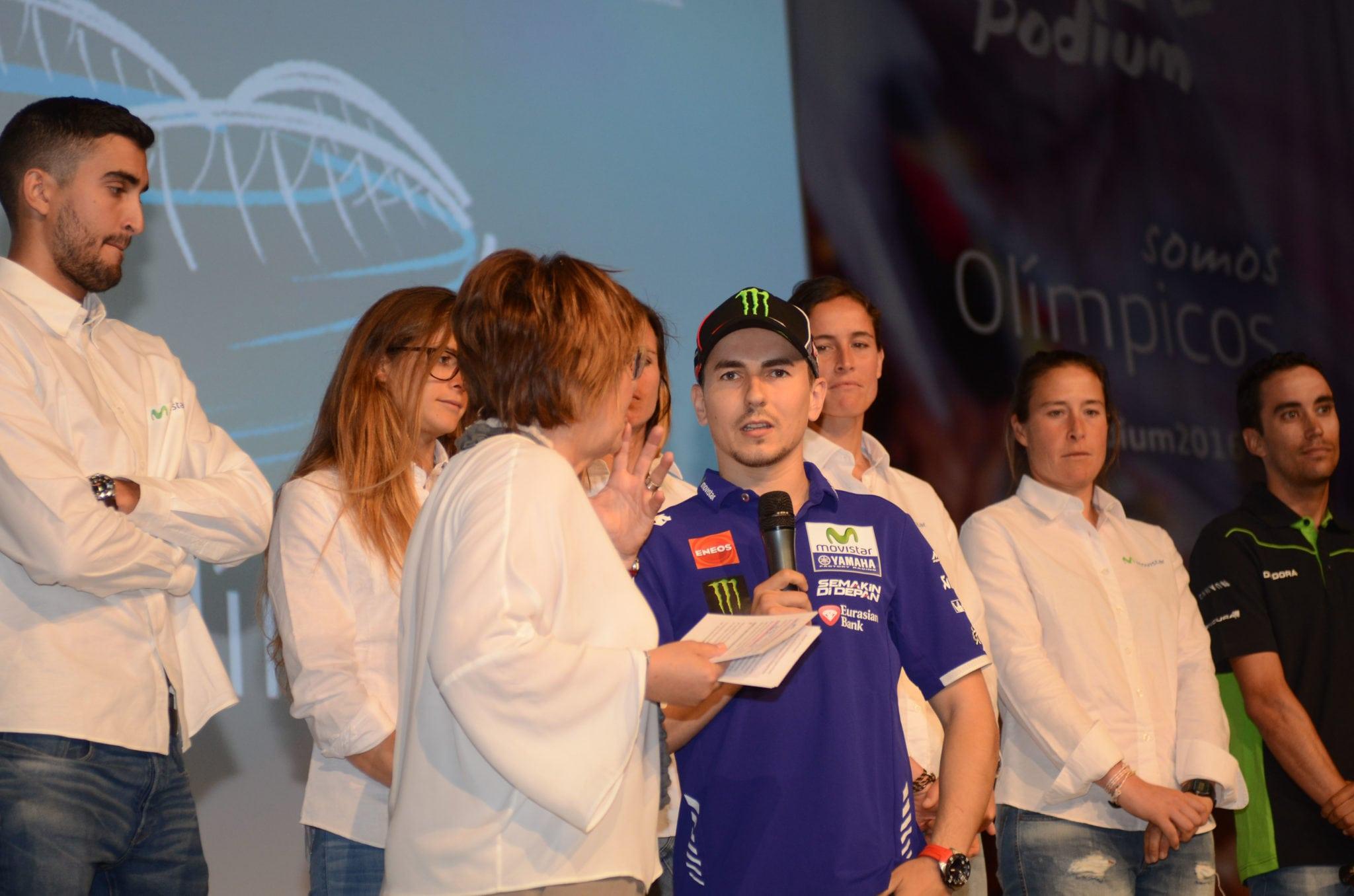 Jaime Fernández, en la presentación del programa PODIUM de Telefónica