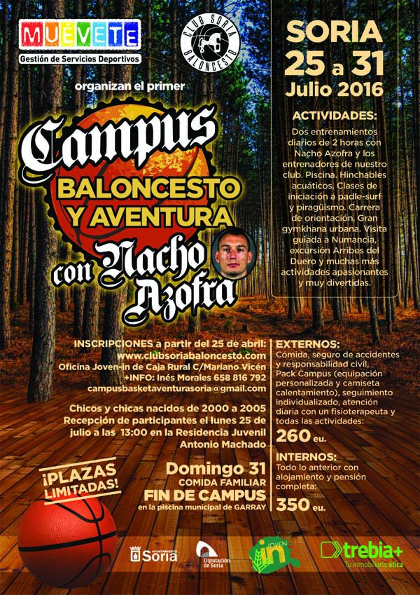 Nacho Azofra organiza en Soria su primer Campus de baloncesto y aventura