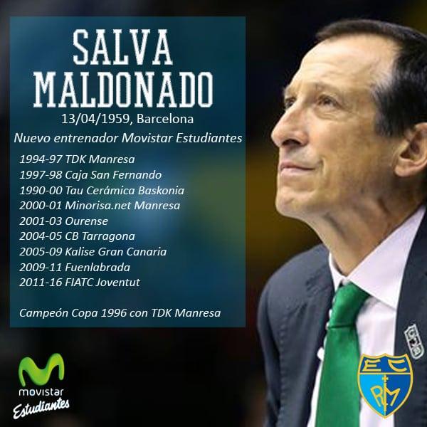 Salva Maldonado, nuevo entrenador de Movistar Estudiantes