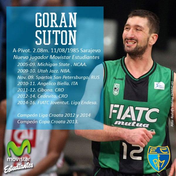 Goran Suton, consistencia para el juego interior de Movistar Estudiantes