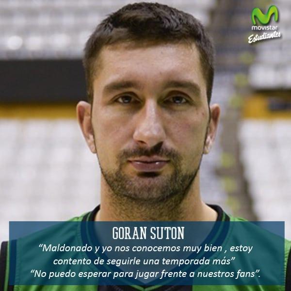 """Goran Suton: """"Espero que tengamos una temporada exitosa""""."""
