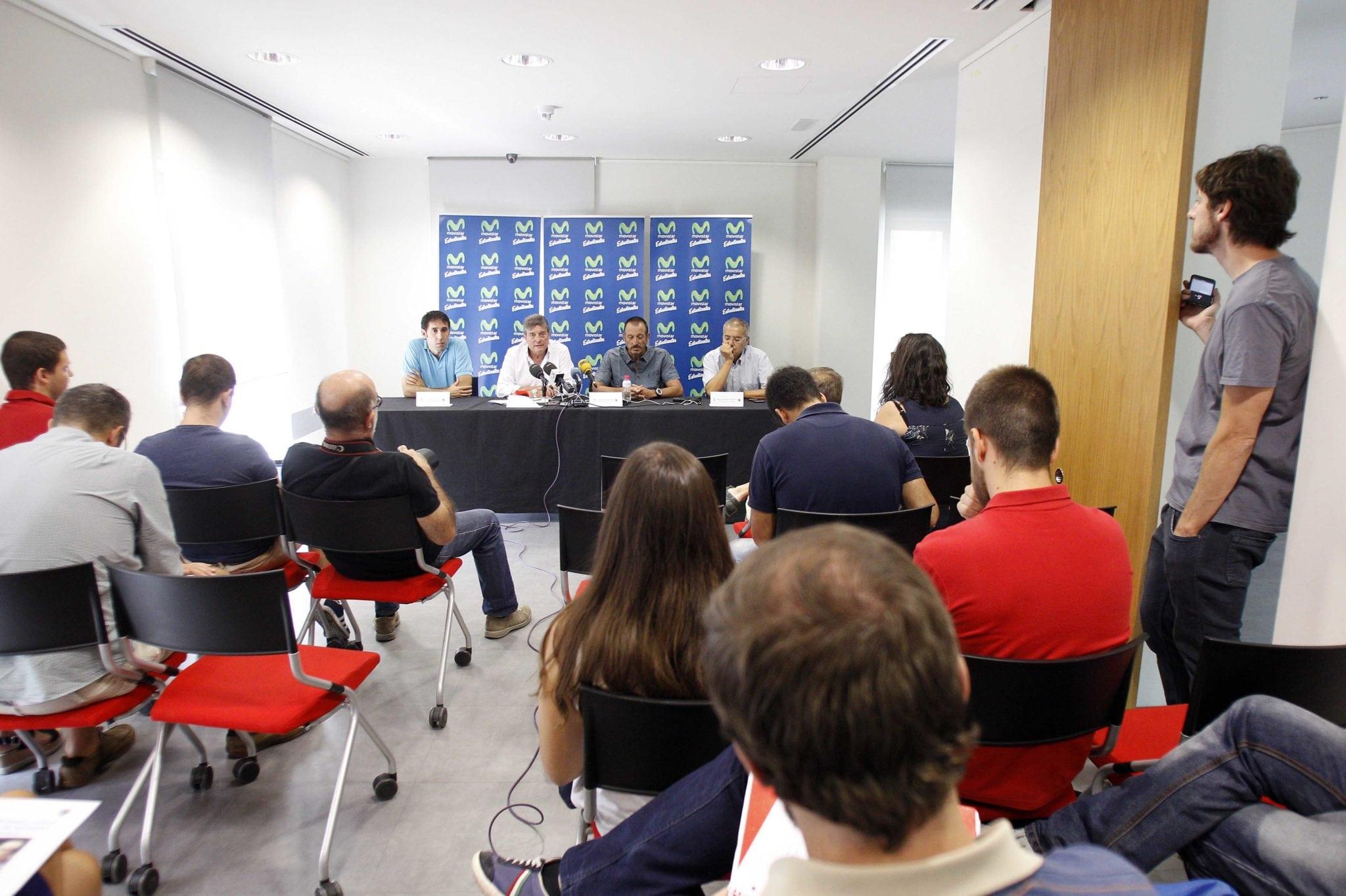 La presentación de Salva Maldonado y Willy Villar, en prensa.