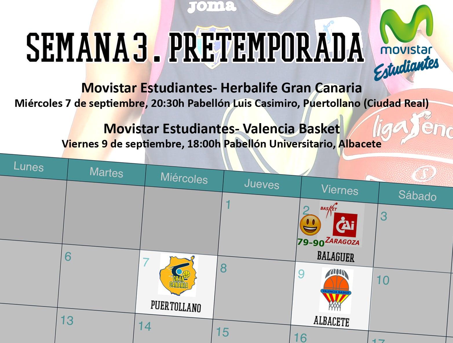 Semana con dos partidos en Castilla La Mancha: miércoles en Puertollano contra Granca, viernes en Albacete frente a Valencia