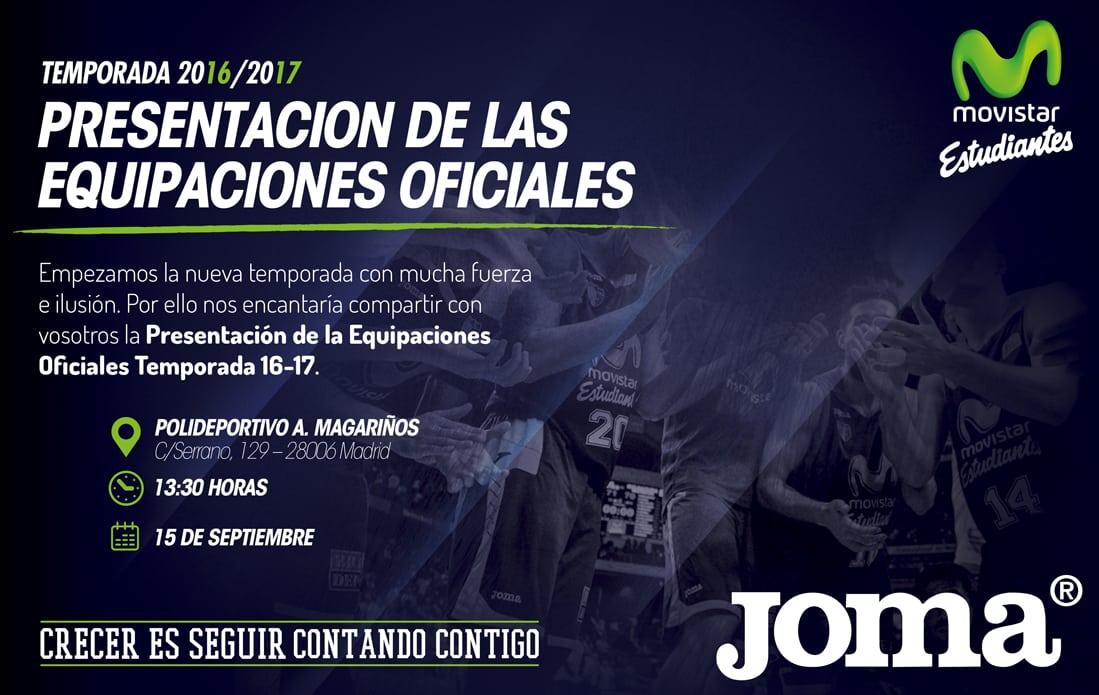 El jueves desvelamos qué ha preparado Joma para las equipaciones 2016-17 de Movistar Estudiantes ¿te vienes a verlo antes que nadie?