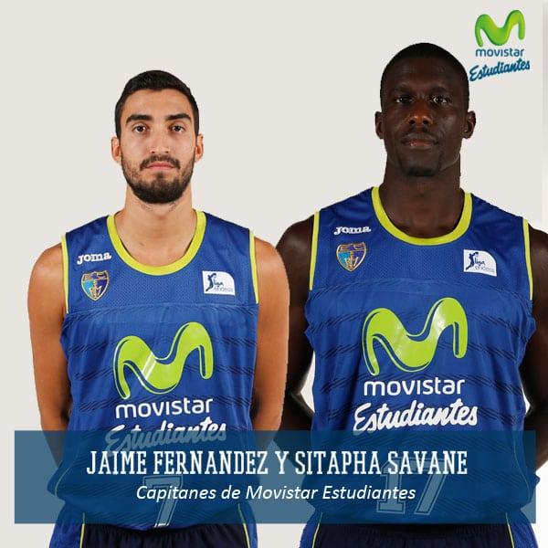 Jaime Fernández y Sitapha Savané serán los capitanes de Movistar Estudiantes