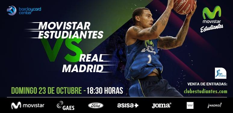 Entradas Movistar Estudiantes- Real Madrid CF: de 20 a 60€. 40% descuento para abonados