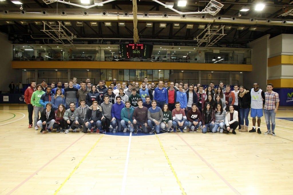 Movistar Estudiantes recibe la visita de estudiantes de la Universidad de León