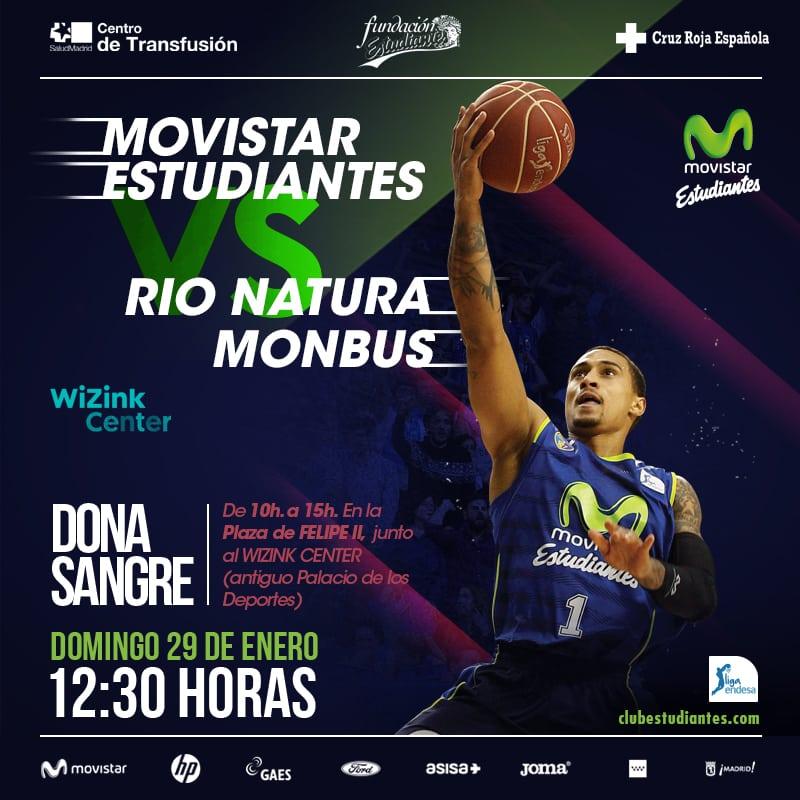 Desde 10 euros el Movistar Estudiantes- Rio Natura Monbus Obradoiro. 20% descuento para abonados.