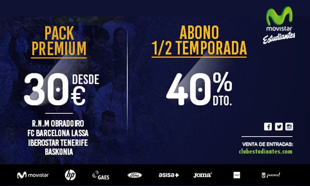 Pack Premium: Barça Lassa, Iberostar Tenerife y Baskonia ¡desde 30 euros!