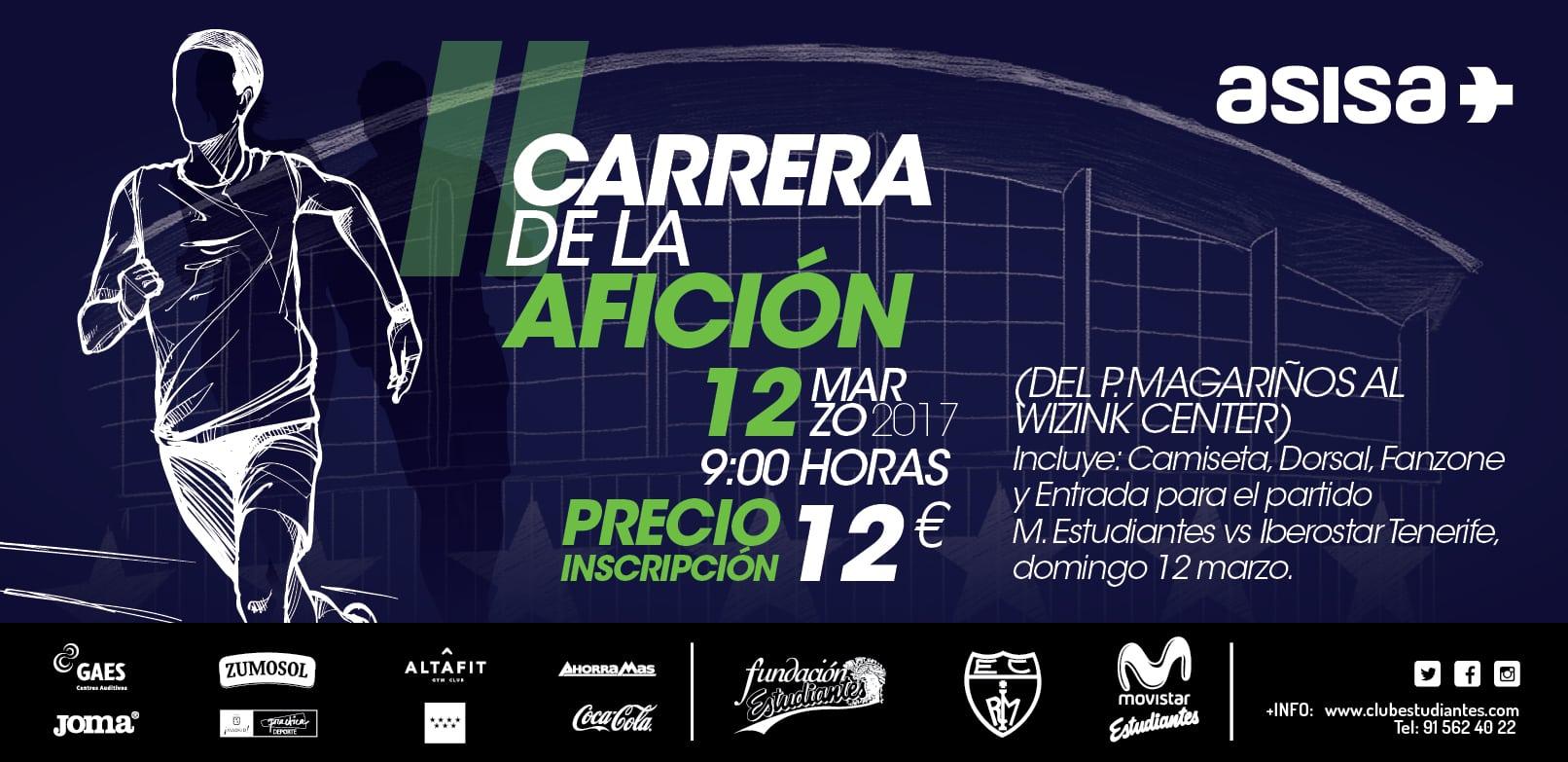 II Carrera de la Afición, domingo 12 de marzo antes del partido