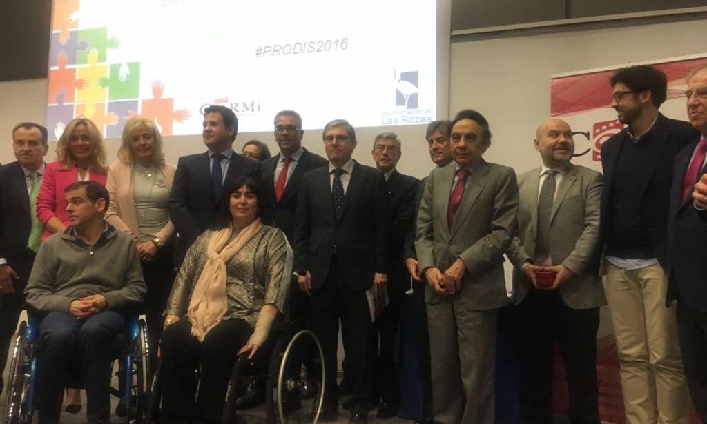 Fundación Estudiantes, Premio PRODÍS Deporte 2016 de CERMI Comunidad de Madrid