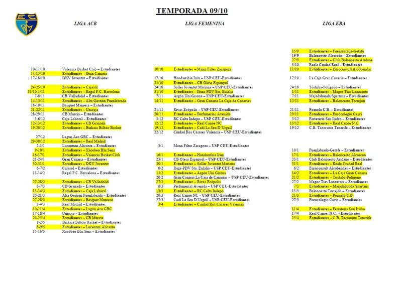 Descárgate en PDF el calendario ACB-LF-EBA