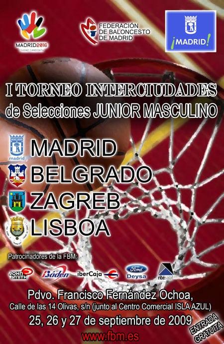 Cuatro estudiantiles en la selección madrileña del I Torneo Interciudades
