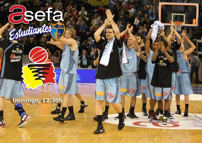 Asefa Estu- B. Rueda Valladolid. Duelo directo en el Madrid Arena (Dom. 12:30h)