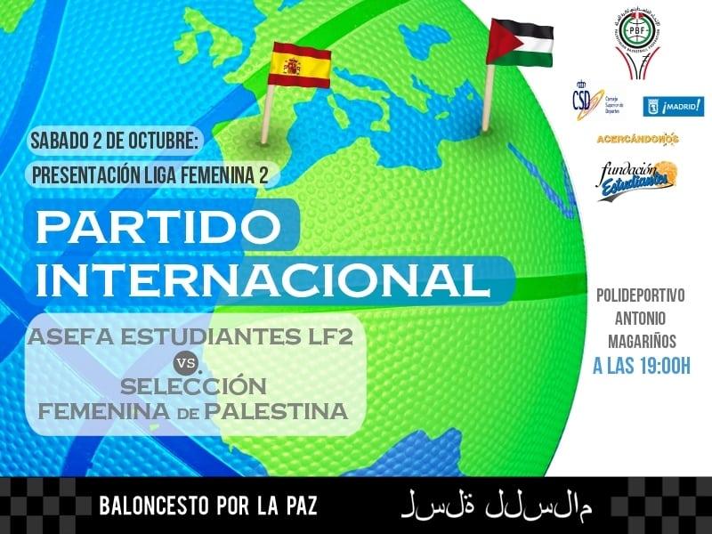 La Selección Femenina de Palestina, rival de Asefa Estudiantes LF2 en su presentación