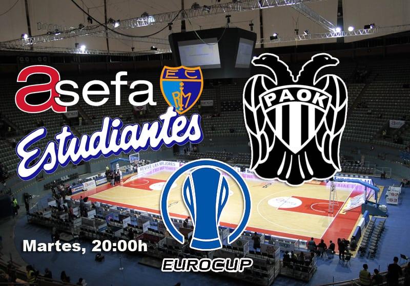 Asefa Estu-PAOK, martes 16 a las 20:00h (LaOtra)