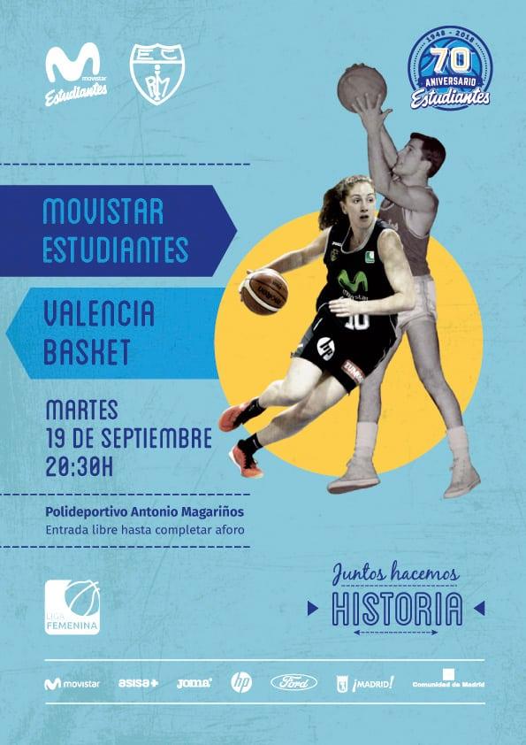 Presentación Liga Femenina: Las Women in Black, al completo vs Valencia Basket (martes 19, 20:30h. Entrada libre)