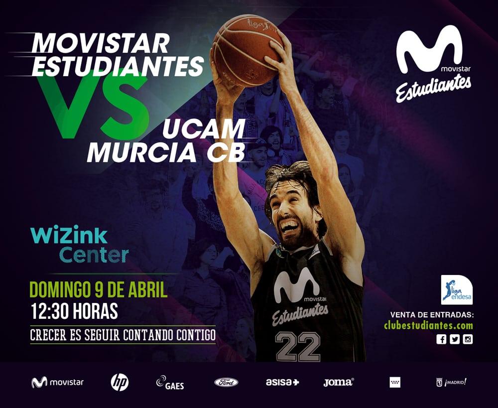 Movistar Estudiantes- UCAM Murcia desde 10 euros. Descuento 20% abonados en compra anticipada