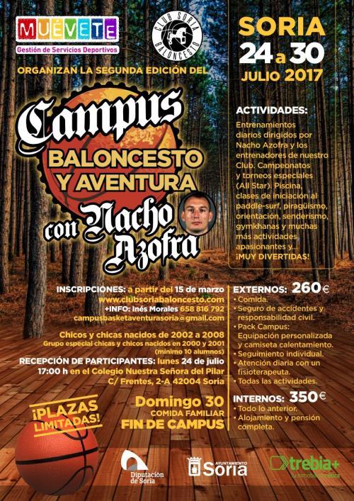 """II Campus """"Baloncesto y Aventura con Nacho Azofra"""", en Soria"""