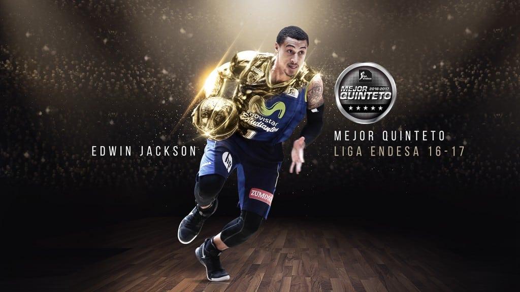 """Edwin Jackson, en el mejor Quinteto de la temporada 2016-17 de Liga Endesa: """"espero que la afición de Movistar Estudiantes esté orgullosa de mi"""""""