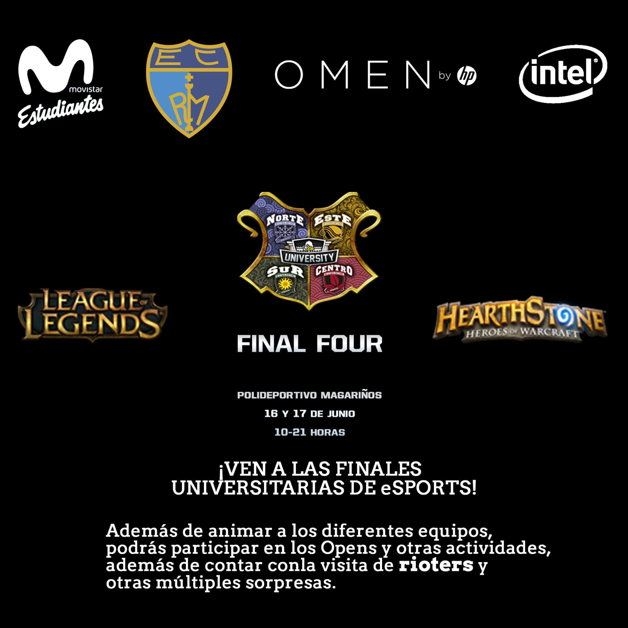 Los eSports desembarcan en el Magariños: finales de OGSeries University (viernes 16 y sábado 17 de junio)
