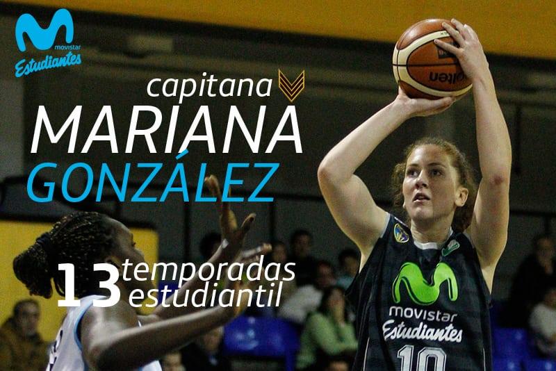 ¡Sigue la capitana! Mariana González cumplirá su 13ª temporada en Movistar Estudiantes