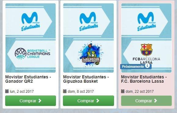 Entradas Previa Champions y vs GBC: desde 10 y 15 euros con descuentos para abonados