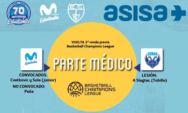 Asisa ofrece el parte médico y novedades del Movistar Estudiantes- Donar