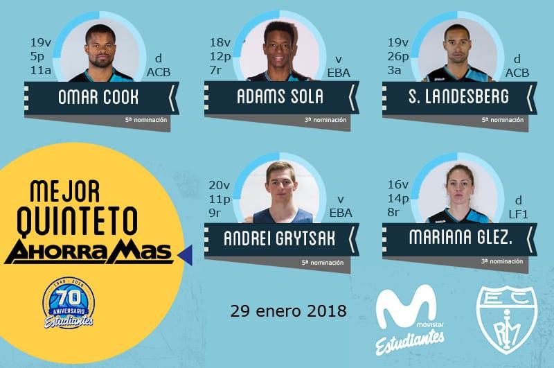 10º Quinteto Ahorramás: Cook, Sola, Landesberg, Grytsak y M. González