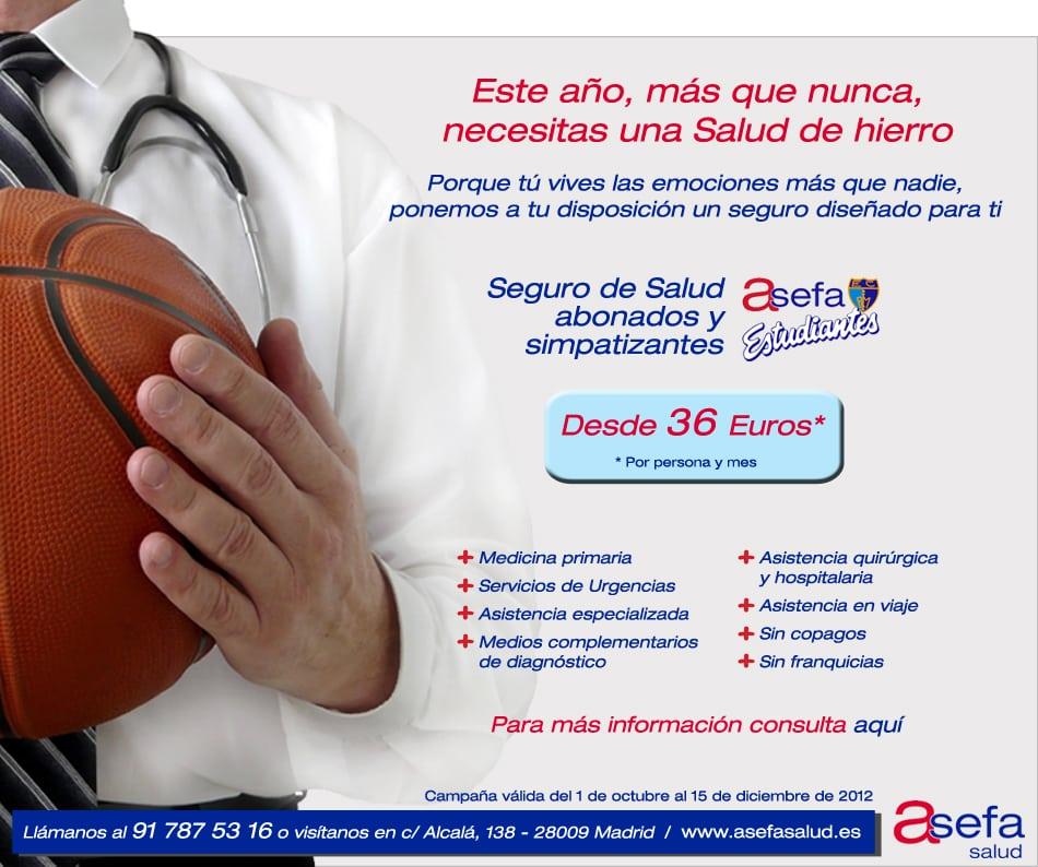 Seguro de Salud para abonados de Asefa Estudiantes por 36 euros