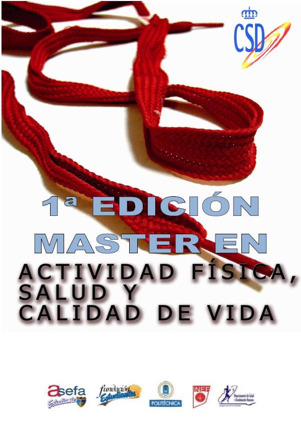 I Master en Actividad Física, Salud y Calidad de Vida, desde octubre