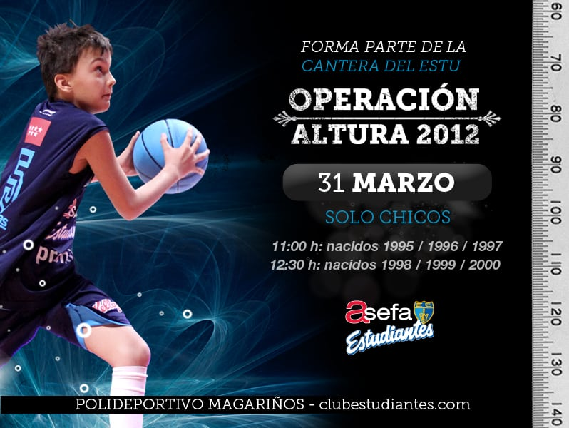 Operación Altura 2012, el 31 de marzo (chicos entre 1995 y 2000)