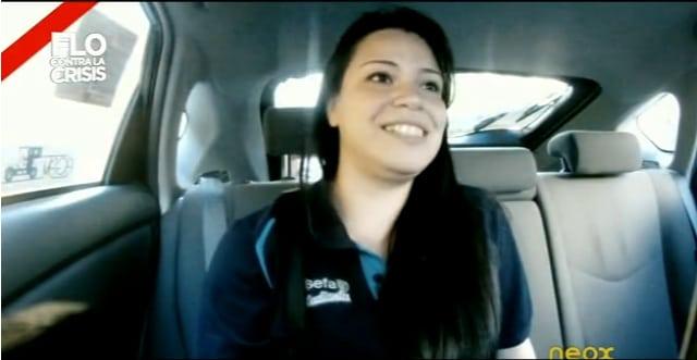 VIDEO: Flo nos coge en su taxi anticrisis